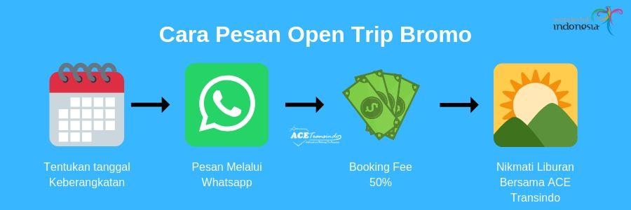 open trip bromo cara pesan