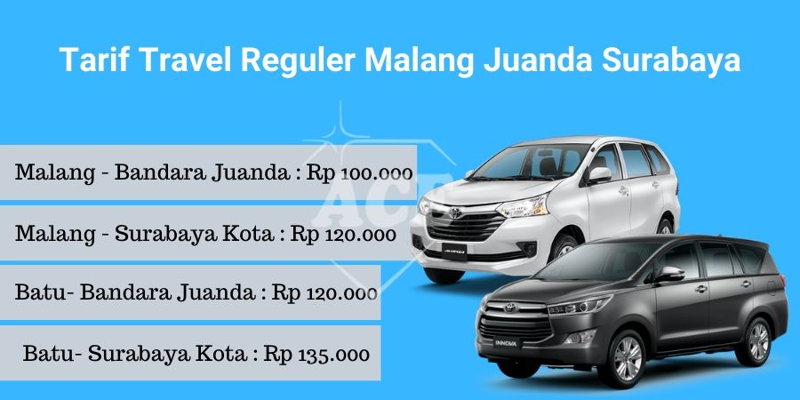 tarif travel malang juanda surabaya